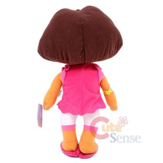 Explorer Dora Plush Doll Toy 12 Large Stuffed Toy Pink Dress