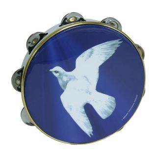 New Remo 8 Tambourine Christian Peace Dove Frame Drum