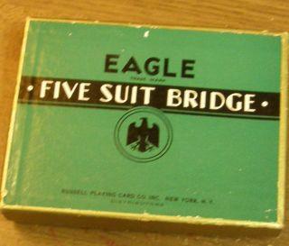 Eagle Five Suit Bridge Playing Cards 1938 Double Deck