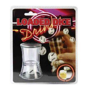 Loaded Dice Shot Glass Drinking Game Shot Glass Party