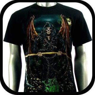 Rock Eagle T Shirt Limited Edition Biker RE106 Sz XL Tattoo Skull