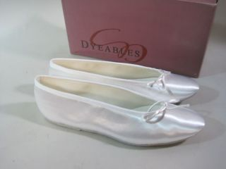 Dyeables Ballet Slippers 9 5 Wedding Prom Shoes White