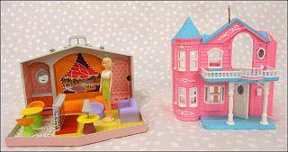 BARBIE ORNAMENTS Hallmark Keepsake DREAM HOUSE & FAMILY DELUXE HOUSE