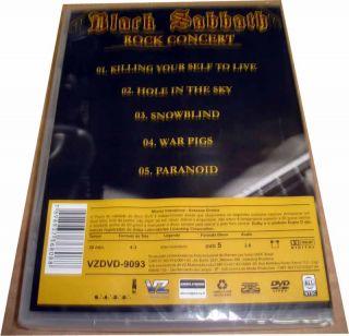 Black Sabbath DVD Don Kirshners 1975 Ozzy Osbourne Tony Iommi Geezer