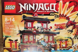 lego ninjago fire temple 2507 factory sealed express shipping offered