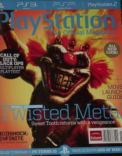 Official Magazine November 2010 Twisted Metal Bioshock Infinite