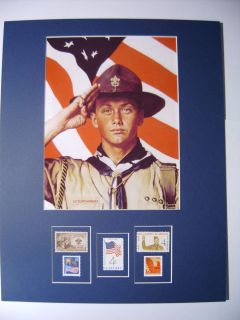 EAGLE SCOUT American Flag Norman Rockwell Print Boy Scouts US Flag