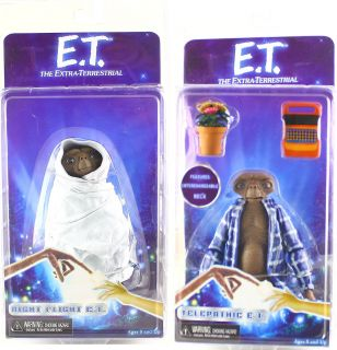 NECA SERIES 2 NIGHT FLIGHT TELEPATHIC ET 6 ACTION FIGURE SET OF 2