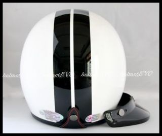 Scooter Harley Motorcycle Open Face Dot Helmet w Visor