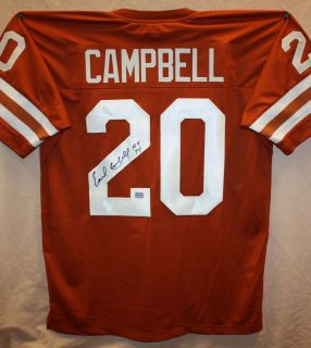 Earl Campbell Autographed Texas Longhorn Orange Jersey Authenticated