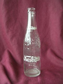 Old Vintage Nesbitts Beverages Soda Pop Bottle 10 FL Oz