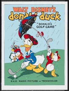 donald s golf game disney fine art serigraph 1980 s nm