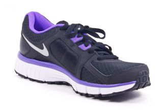 Nike Dual Fusion St 2 Womens Black Purple Running Shoes Shoes 9 5 New