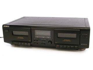 Sony TC WE305 Stereo Dual Cassette Deck Tape Player Recorder