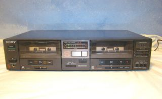 Sony TC W5 Stereo Dual Cassette Deck for Parts or Fix