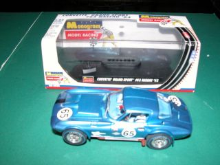 MONOGRAM CORVETTE GRAND SPORT #65 NASSAU 63 1/32 SLOT CAR #85 4858 W