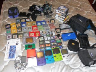 Nintendo lot of handheld portable systems DS Lite, Game Boy Advance