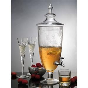 Elegant Small Savannah Glass Drink Dispenser