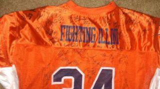 2008 Illinois Fighting Illini team signed football Jersey  CERTIFICATE