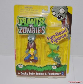 Plants vs Zombies 3 Toy Figure Ducky Tube Zombie Peashooter