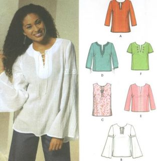 Tunic Top Sewing Pattern Sleeve Variations Easy Simplicity 5684
