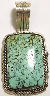 Navajo Dry Creek Turquoise Sterling Silver Pendant Eugene Belone