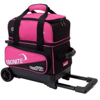 Ebonite Transport 1 Ball Roller Bowling Bag with Wheels Pink