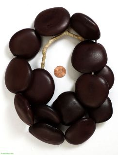 Ebony Colored Seed Beads Pods Big African