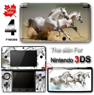 Horse White Wild Arts SKIN VINYL STICKER DECAL COVER for Nintendo 3DS