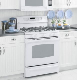 GE Profile White Gas Double Oven Convection Range PGB928TEMWW Out of