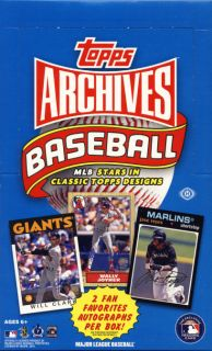 2012 Topps Archives Baseball Factory SEALED Hobby Box 2 Autos Darvish