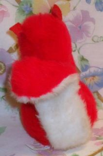 VINTAGE DOUGLAS CUDDLE TOYS STUFFED PLUSH RED & WHITE 6.5 SKUNK