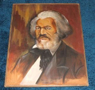 Frederick Douglass Painting RARE African American Black