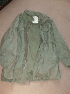 Vietnam Era M65 Field Jacket Olive Zippered Medium Complete