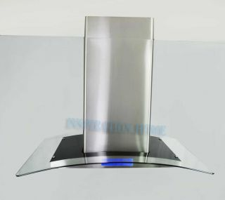 S275 30 Stainless Steel Glass Island Mount Range Hood Exhaust