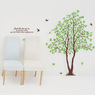 Huge 70inch Green Lover AB Twins Tree Room Decal Wall Decor Wall