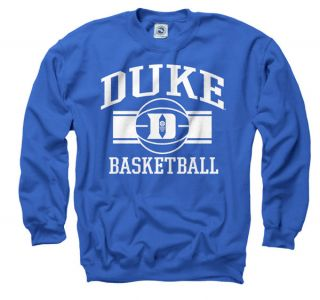 Duke Blue Devils Royal Wide Stripe Basketball Crewneck Sweatshirt