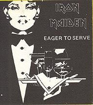 Iron Maiden 1980 Backstage Pass VIP Mint Black Version