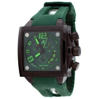 This is a NEW ADEE KAYE MENS PERSONA COLLECTION GREEN DIAL SQUARE