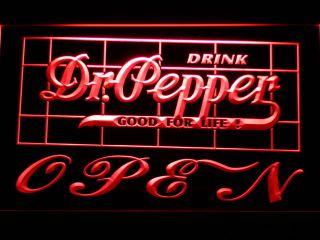 076 R Dr Pepper Drink Open Bar Neon Light Sign