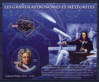 Edmond Halley and the meteorite Sikhote Alin on stamps ML2010