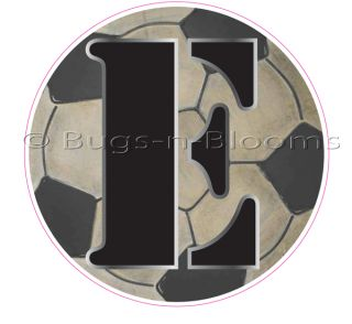 Soccer Ball Letter Boy Sport Name Alphabet Wall Sticker Mural Vinyl