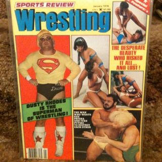 Review Wrestling Magazine Jan 1979 Dusty Rhodes Womens Apartment Girls