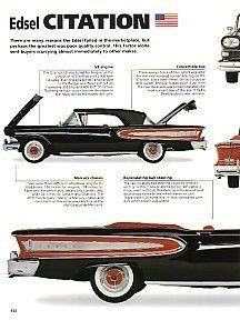 1957 ad 58 ford edsel citation two door hardtop cars. Black Bedroom Furniture Sets. Home Design Ideas