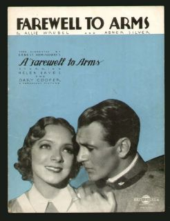 Farewell to Arms 1933 Helen Hayes Gary Cooper