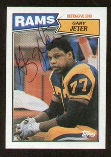 Gary Jeter Signed Autograph Auto 1987 Topps Football Trading Card