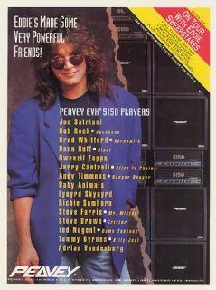 1993 Eddie Van Halen Peavey EVH 5150 Amp Player List Ad