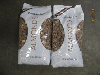 48 oz Wonderful Dry Roasted Salted Almonds 6 Lbs