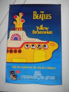 THE BEATLES YELLOW SUBMARINE RARE VIDEO DVD PROMOTIONAL POSTER