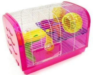 Dwarf Hamster Rodent Mouse Mice Critter Play House Cage H1080A Pink